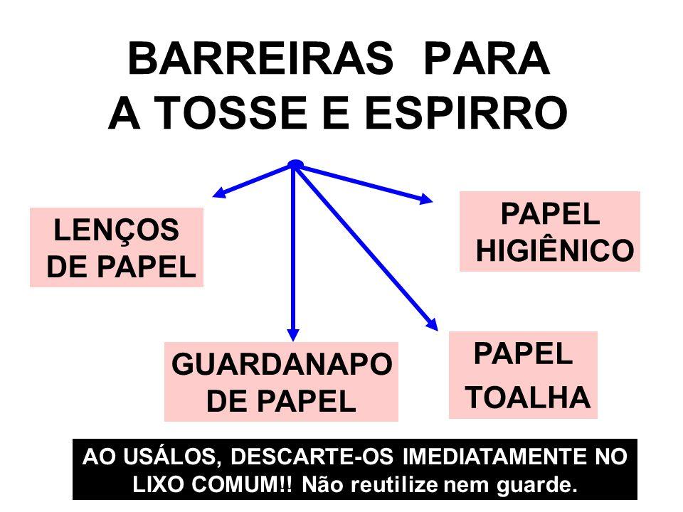 BARREIRAS PARA A TOSSE E ESPIRRO