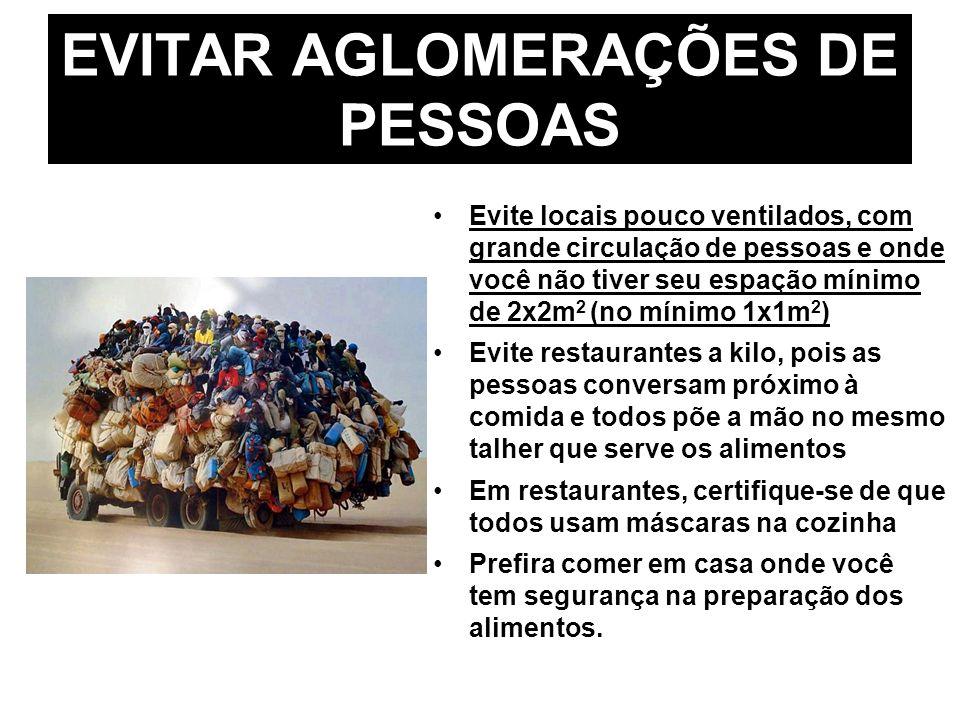 EVITAR AGLOMERAÇÕES DE PESSOAS