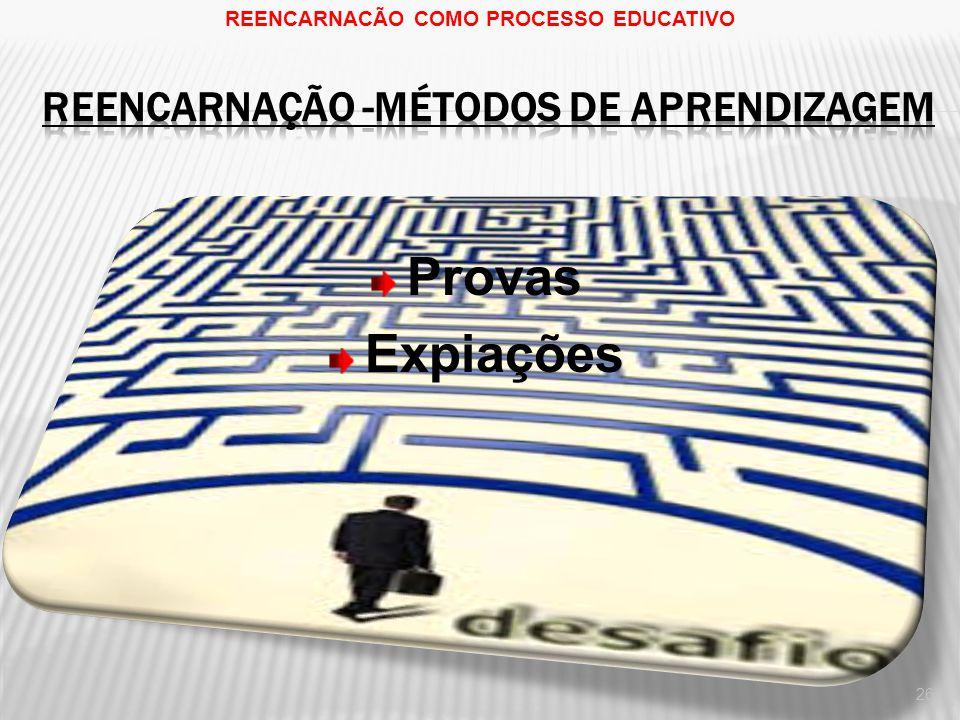 REENCARNAÇÃO -Métodos de aprendizagem