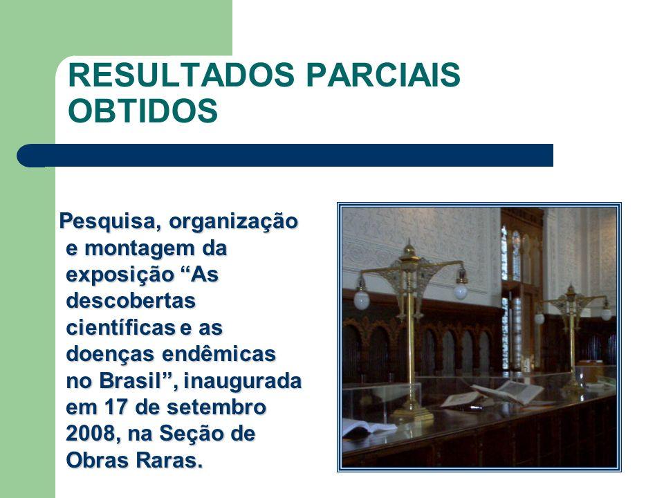 RESULTADOS PARCIAIS OBTIDOS
