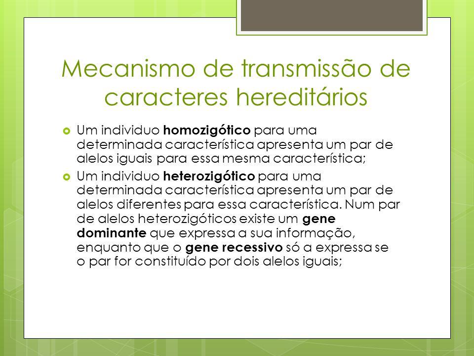 Mecanismo de transmissão de caracteres hereditários