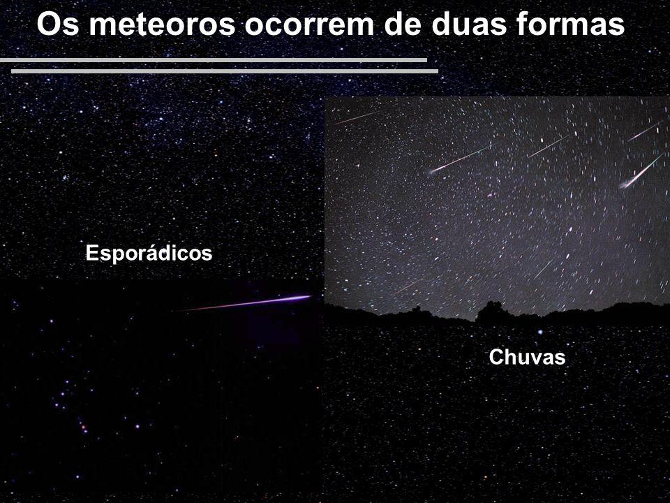 Os meteoros ocorrem de duas formas