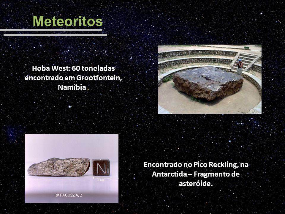 Meteoritos Hoba West: 60 toneladas encontrado em Grootfontein, Namibia .