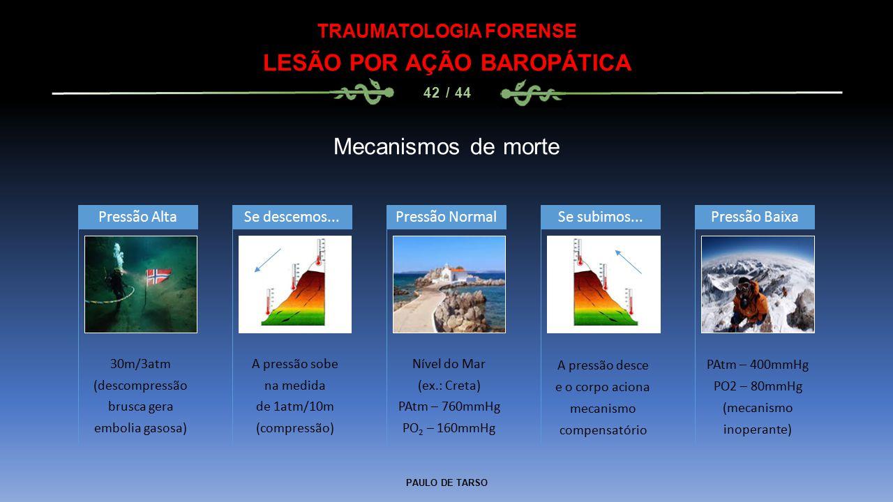 TRAUMATOLOGIA FORENSE LESÃO POR AÇÃO BAROPÁTICA