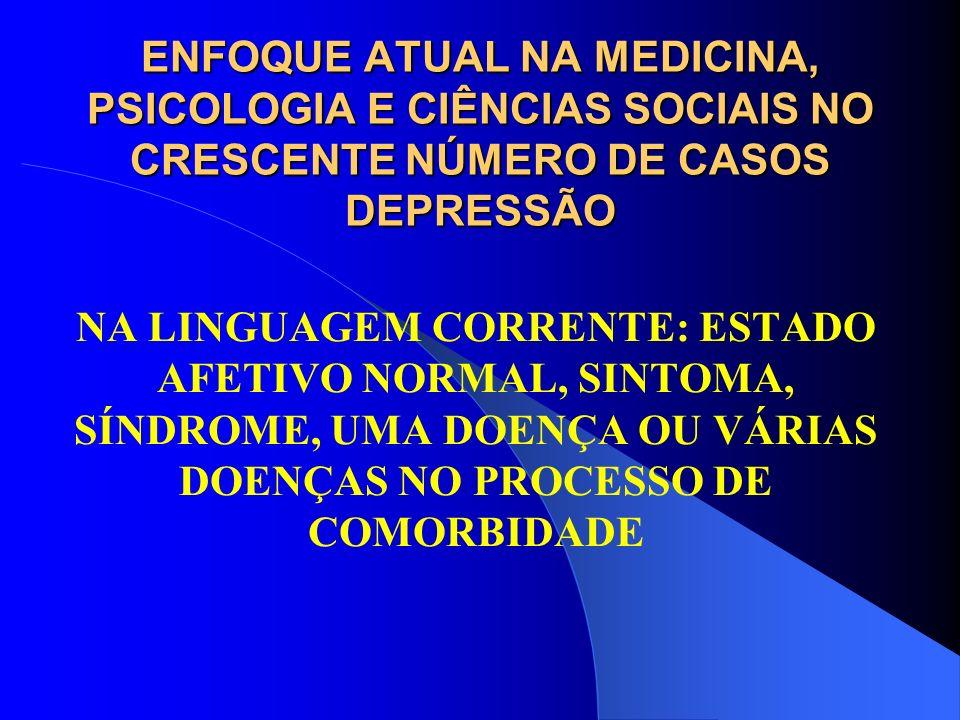 ENFOQUE ATUAL NA MEDICINA, PSICOLOGIA E CIÊNCIAS SOCIAIS NO CRESCENTE NÚMERO DE CASOS DEPRESSÃO