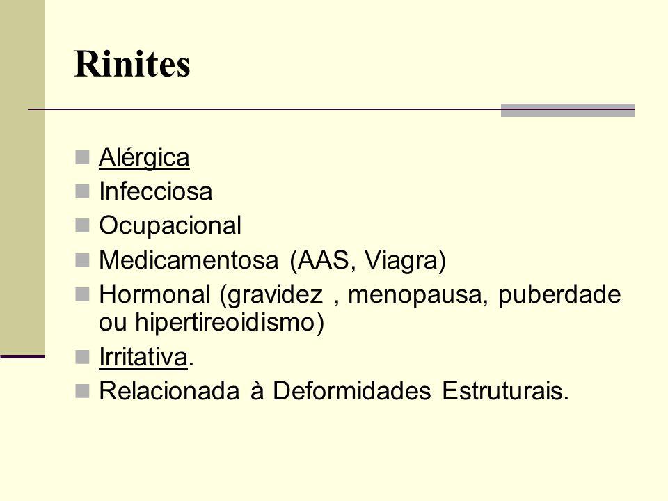 Rinites Alérgica Infecciosa Ocupacional Medicamentosa (AAS, Viagra)