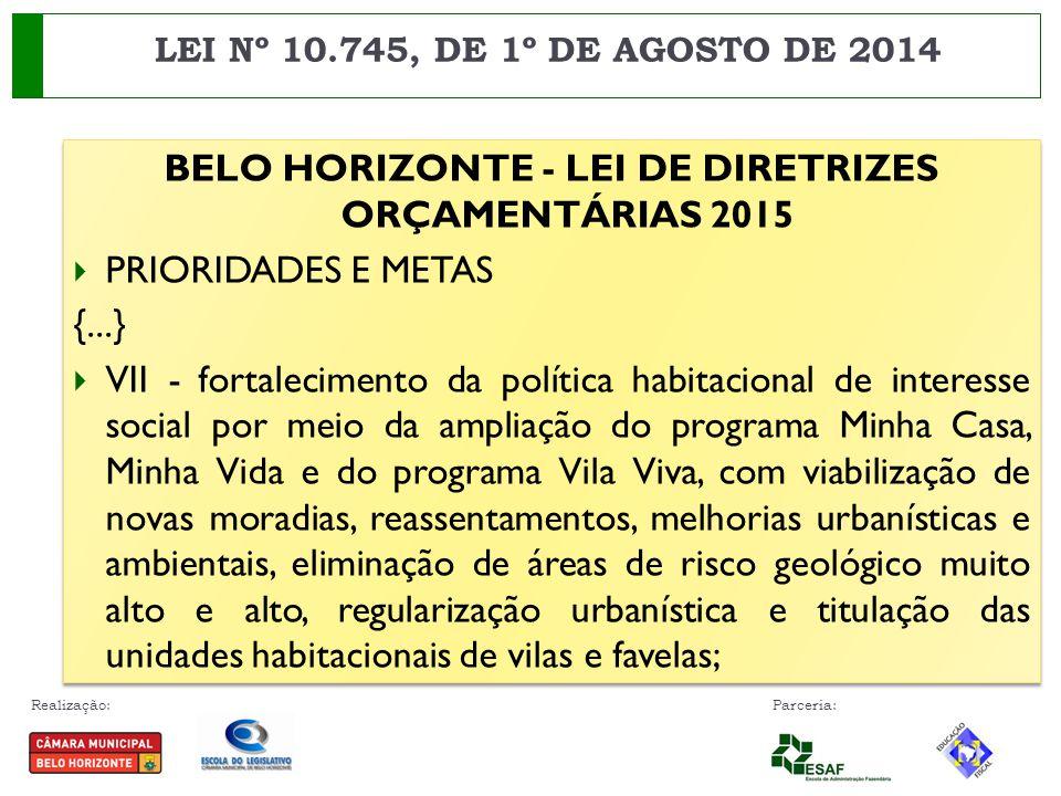 BELO HORIZONTE - LEI DE DIRETRIZES ORÇAMENTÁRIAS 2015