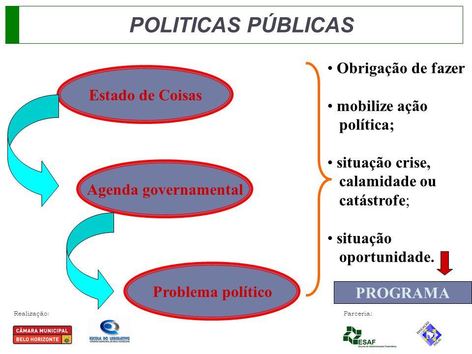POLITICAS PÚBLICAS Obrigação de fazer mobilize ação Estado de Coisas