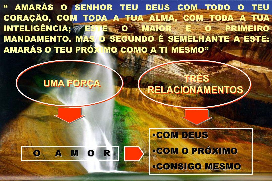 UMA FORÇA TRÊS RELACIONAMENTOS