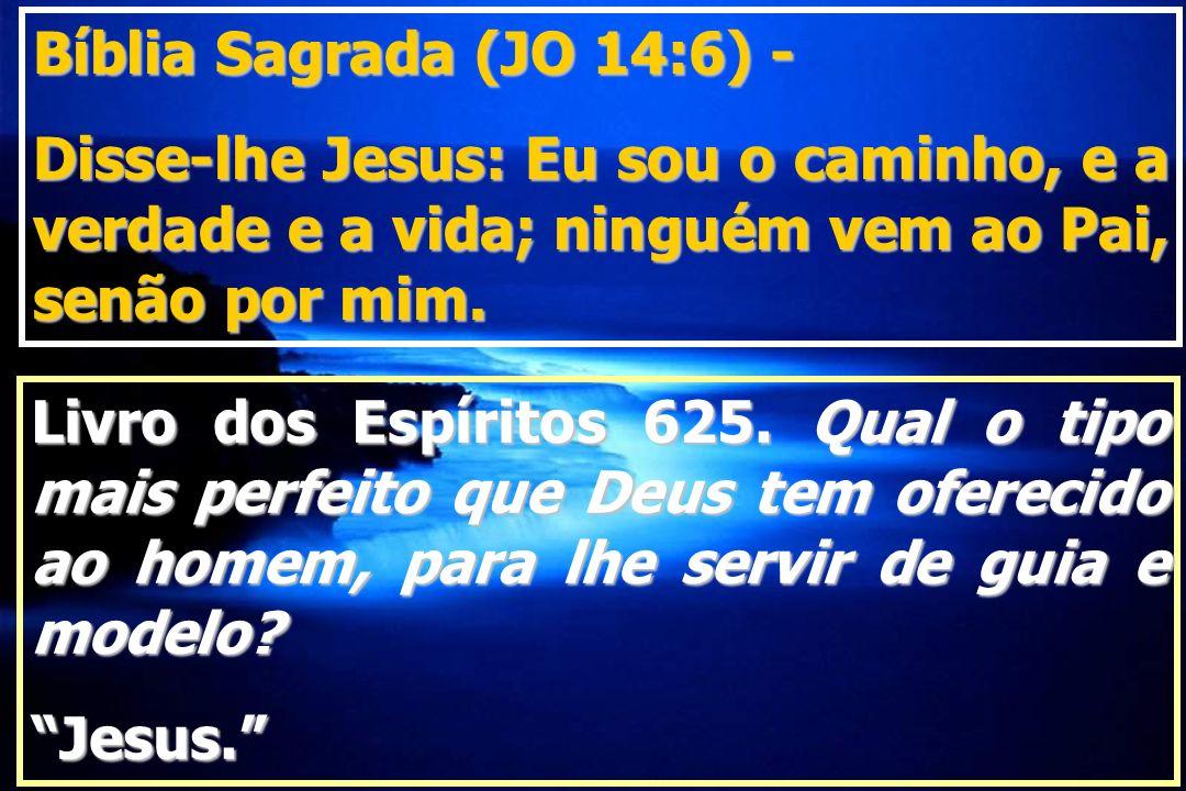 Bíblia Sagrada (JO 14:6) - Disse-lhe Jesus: Eu sou o caminho, e a verdade e a vida; ninguém vem ao Pai, senão por mim.