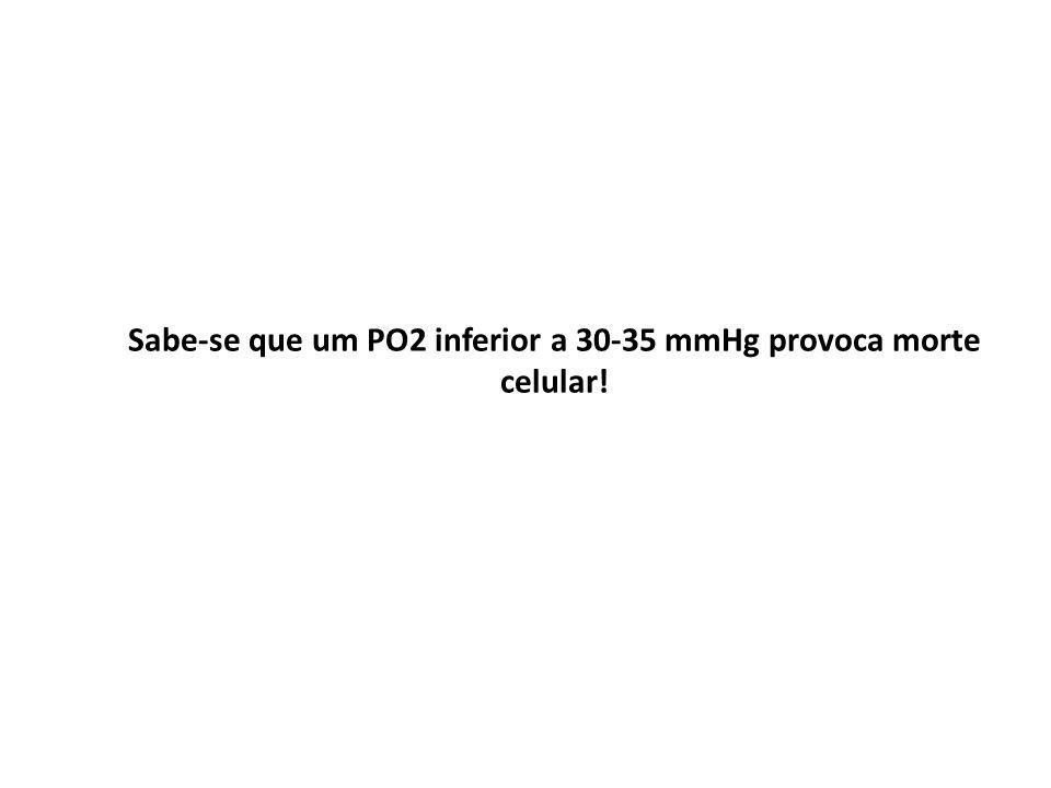 Sabe-se que um PO2 inferior a 30-35 mmHg provoca morte celular!