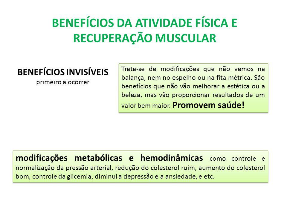 BENEFÍCIOS DA ATIVIDADE FÍSICA E RECUPERAÇÃO MUSCULAR