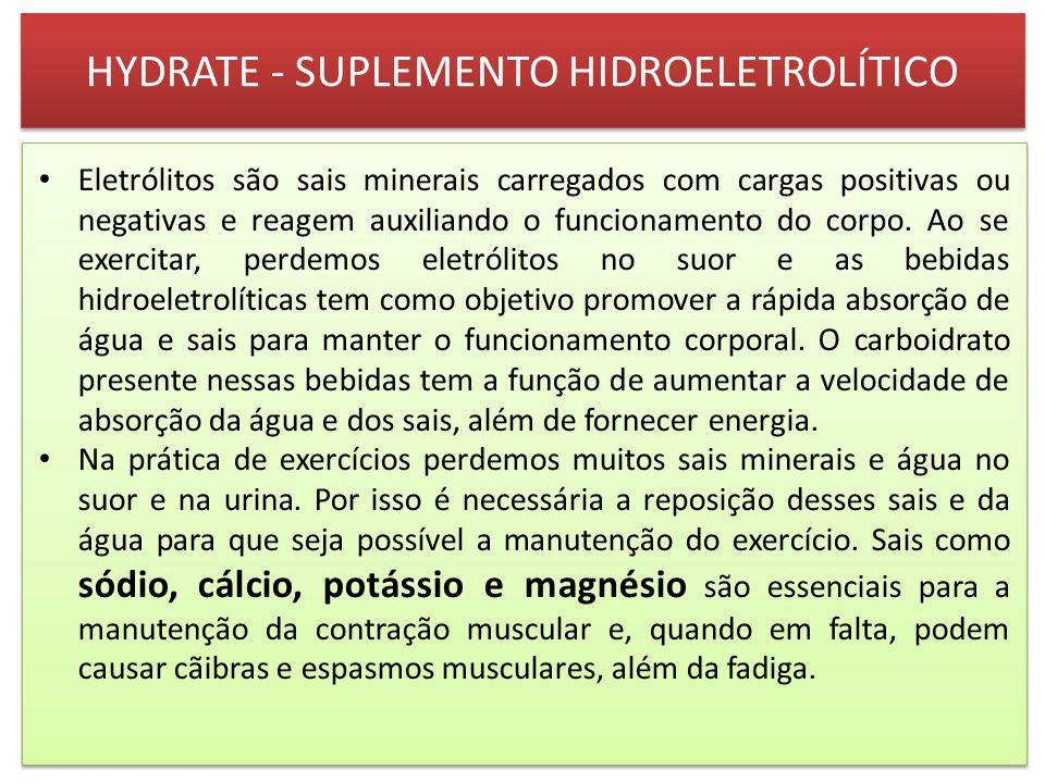 HYDRATE - SUPLEMENTO HIDROELETROLÍTICO