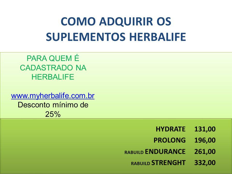 COMO ADQUIRIR OS SUPLEMENTOS HERBALIFE