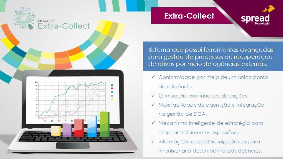Extra-Collect Sistema que possui ferramentas avançadas para gestão de processos de recuperação de ativos por meio de agências externas.
