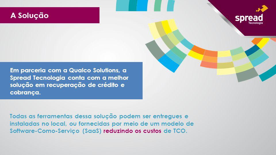 A Solução Em parceria com a Qualco Solutions, a Spread Tecnologia conta com a melhor solução em recuperação de crédito e cobrança.