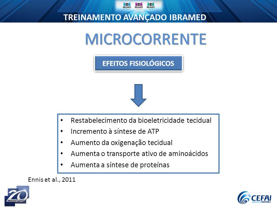 MICROCORRENTE EFEITOS FISIOLÓGICOS