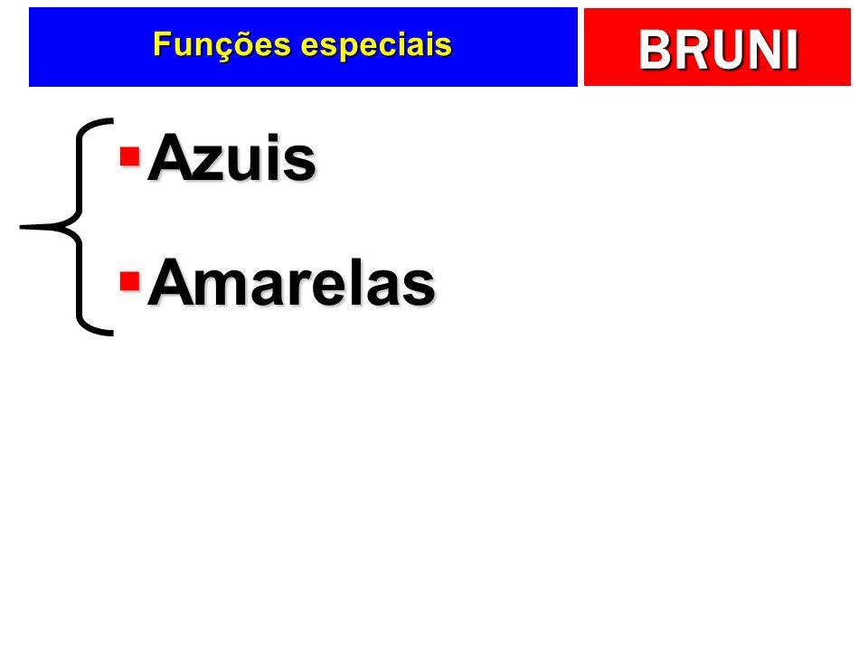 Funções especiais Azuis Amarelas