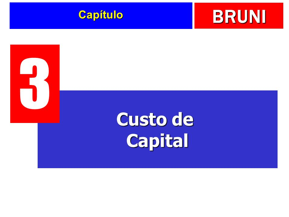 Capítulo 3 Custo de Capital