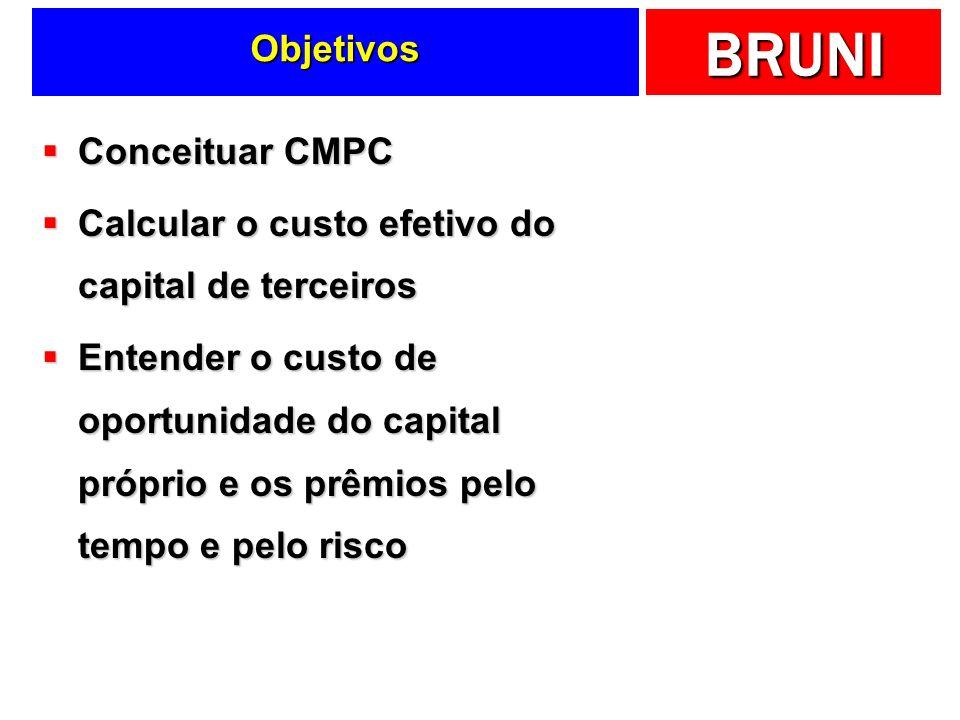 Objetivos Conceituar CMPC. Calcular o custo efetivo do capital de terceiros.