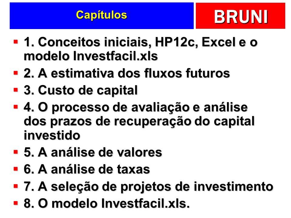1. Conceitos iniciais, HP12c, Excel e o modelo Investfacil.xls