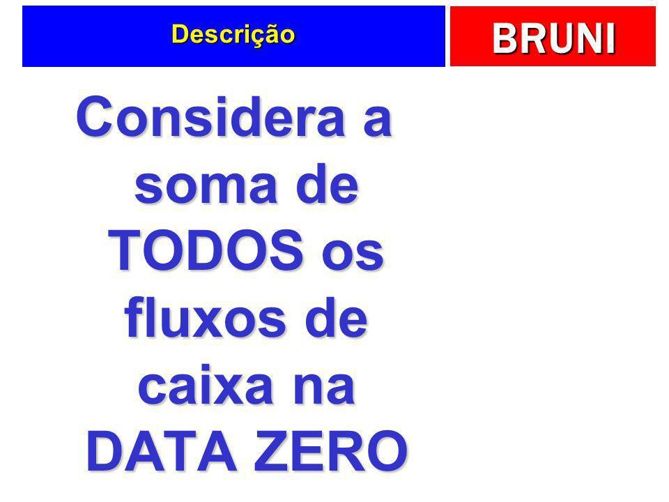 Considera a soma de TODOS os fluxos de caixa na DATA ZERO