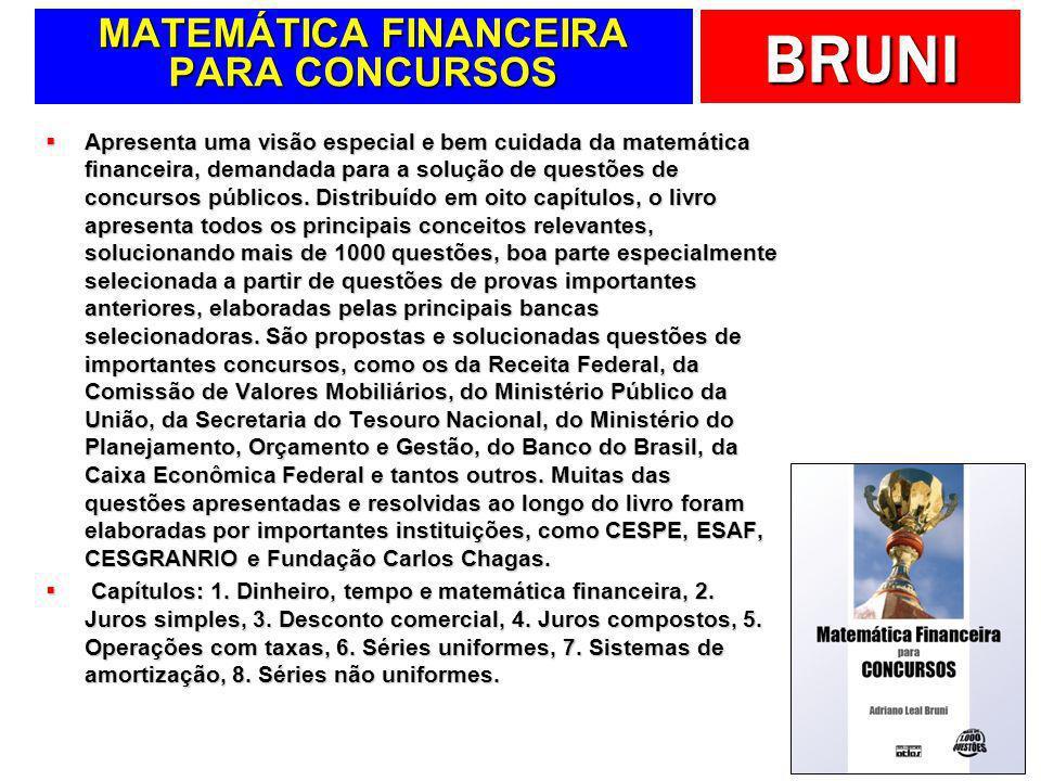 MATEMÁTICA FINANCEIRA PARA CONCURSOS