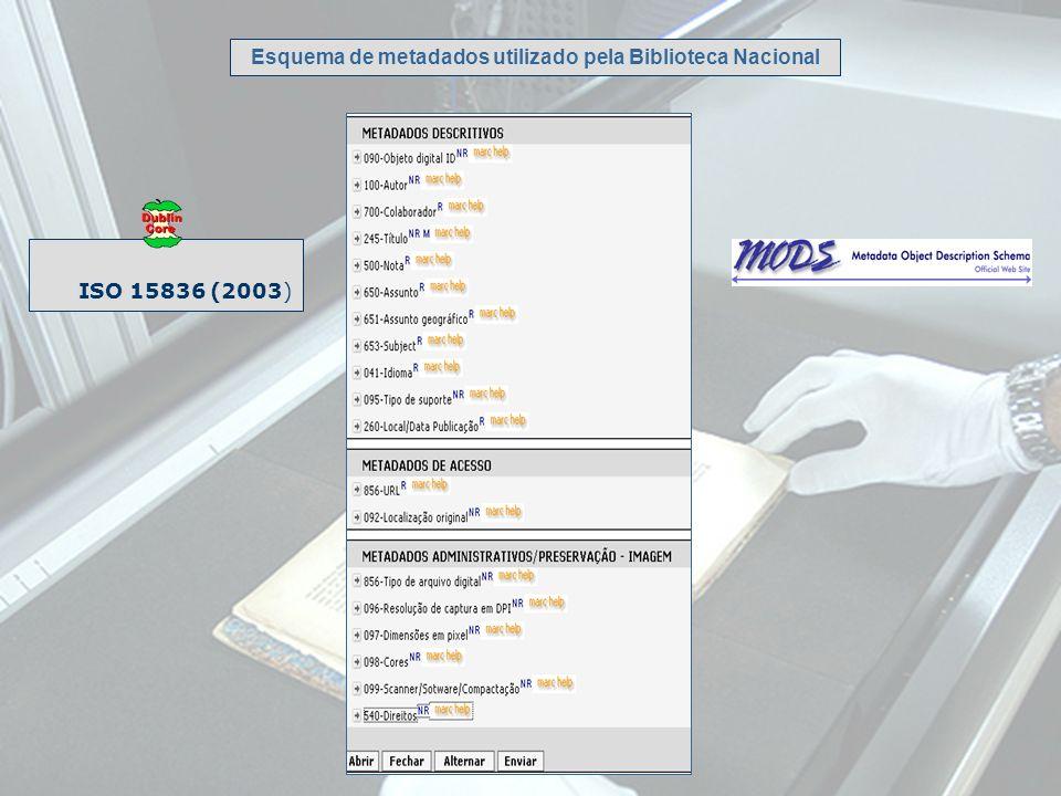 Esquema de metadados utilizado pela Biblioteca Nacional