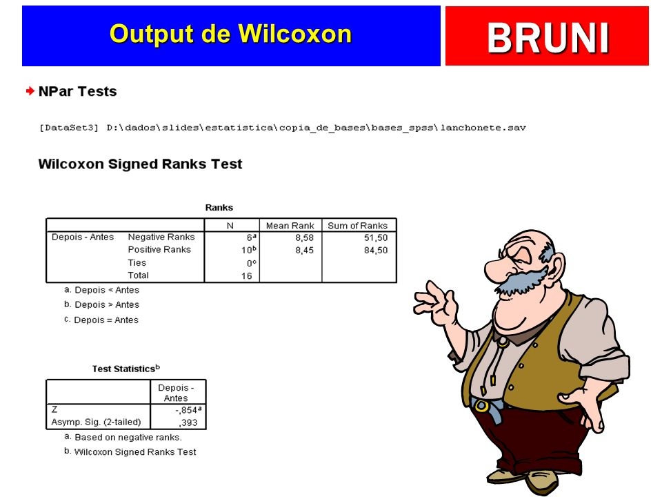 Output de Wilcoxon