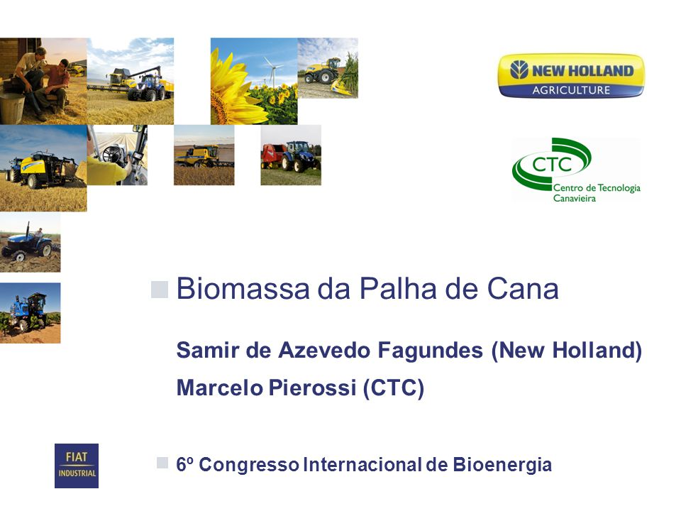 Biomassa da Palha de Cana