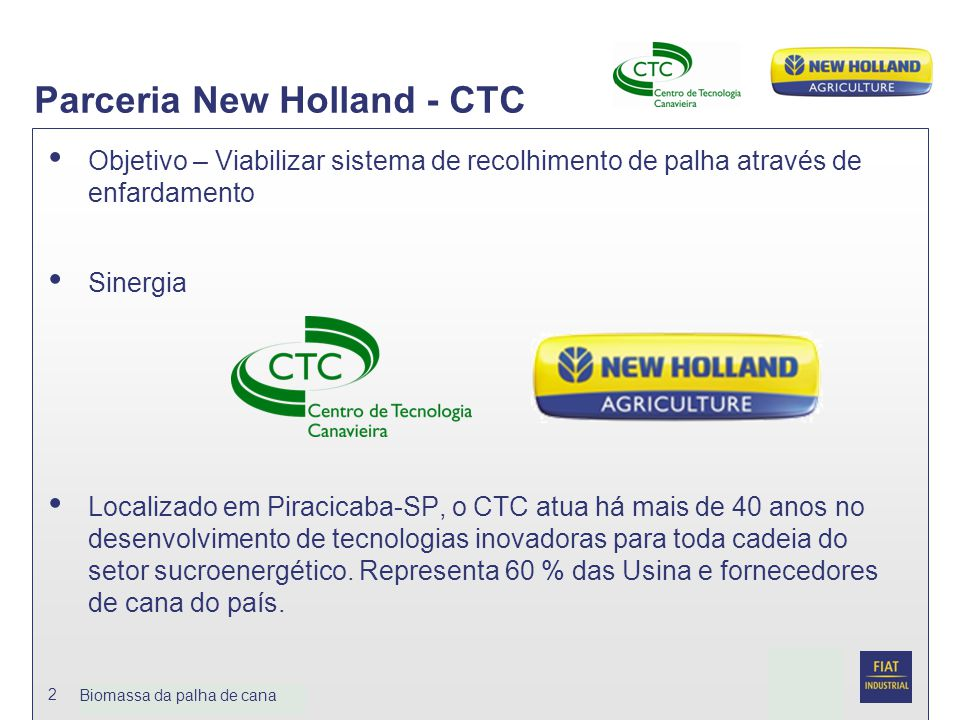 Parceria New Holland - CTC