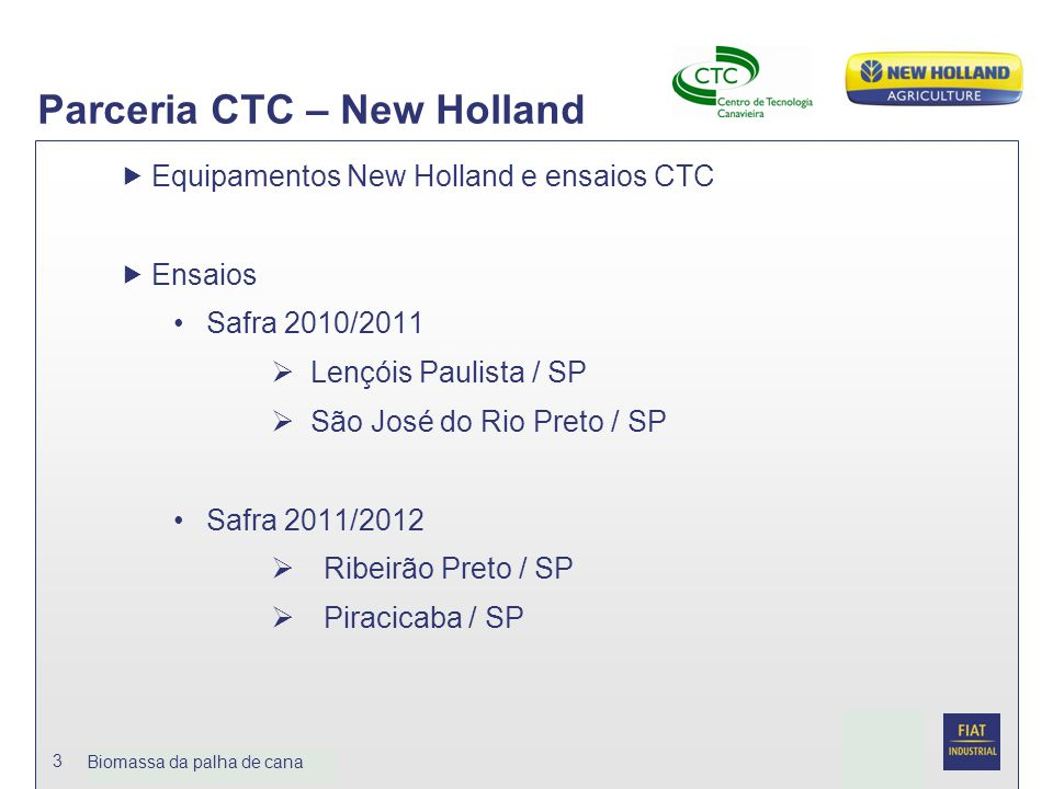 Parceria CTC – New Holland
