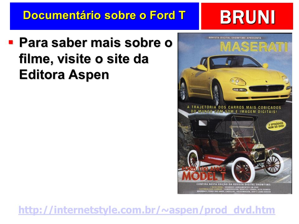 Documentário sobre o Ford T