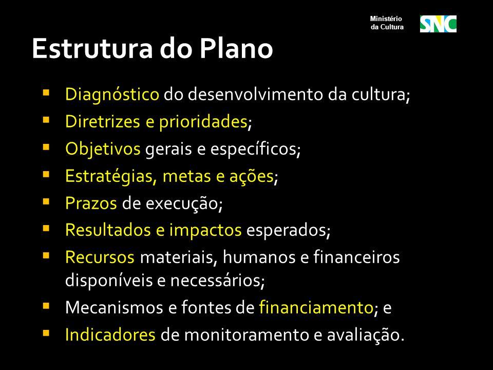 Estrutura do Plano Diagnóstico do desenvolvimento da cultura;