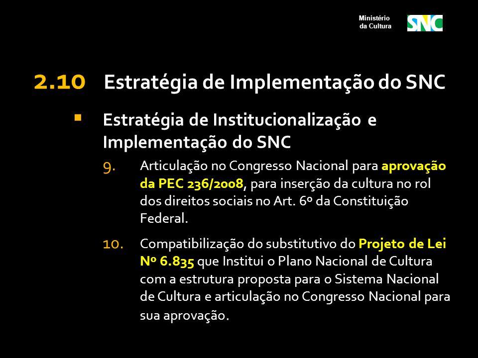 2.10 Estratégia de Implementação do SNC