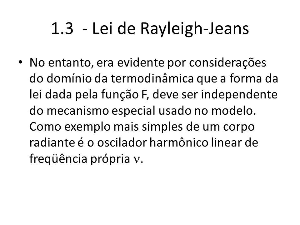 1.3 - Lei de Rayleigh-Jeans