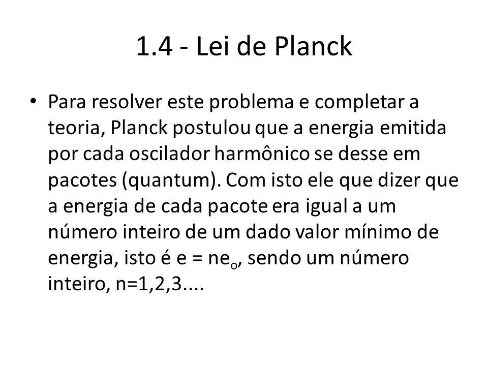 1.4 - Lei de Planck