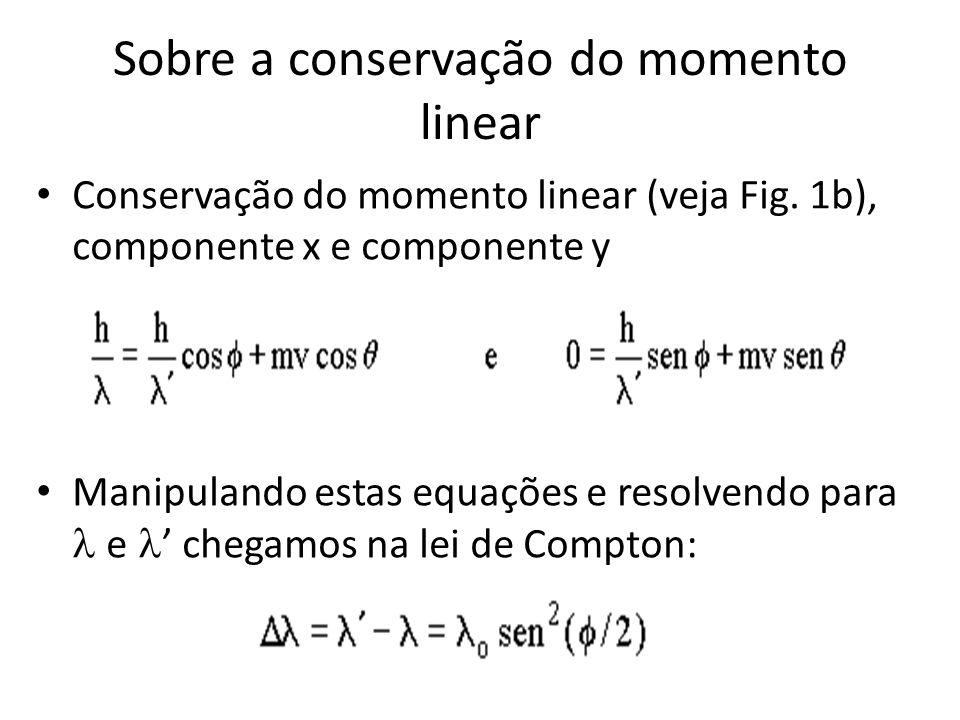 Sobre a conservação do momento linear