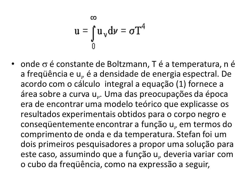 onde s é constante de Boltzmann, T é a temperatura, n é a freqüência e un é a densidade de energia espectral.