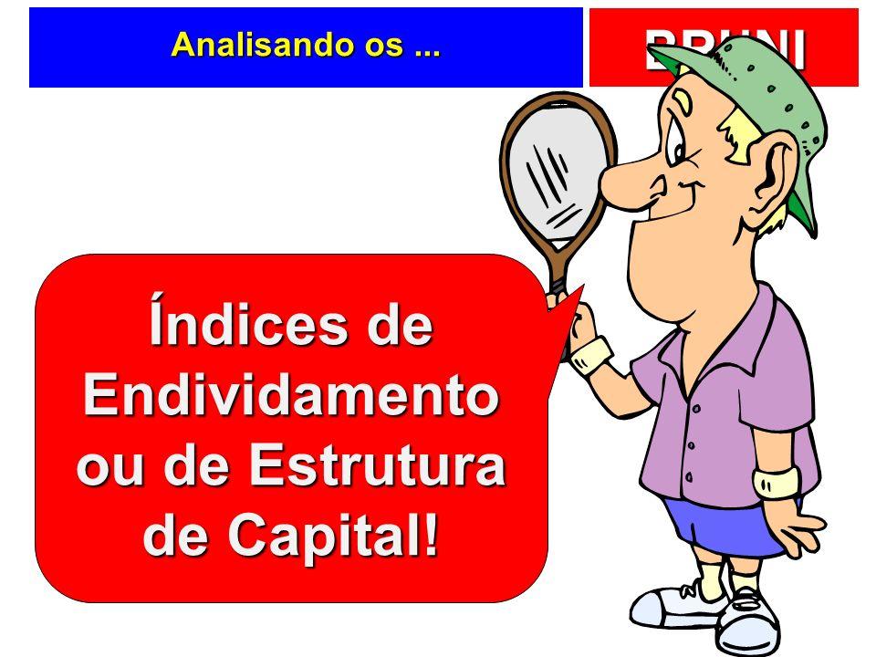 Índices de Endividamento ou de Estrutura de Capital!