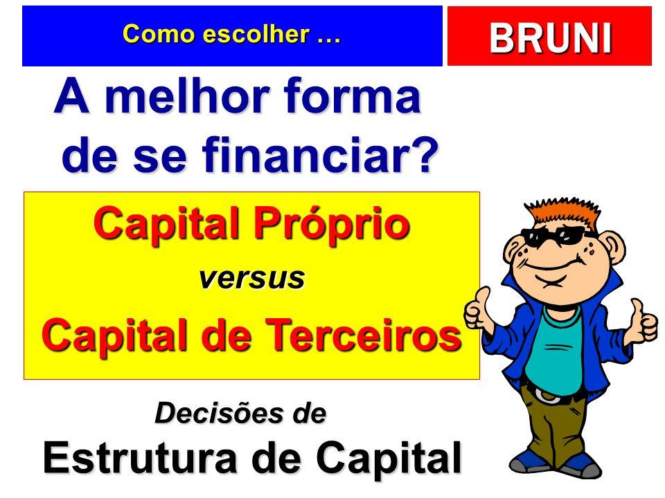 A melhor forma de se financiar Decisões de Estrutura de Capital