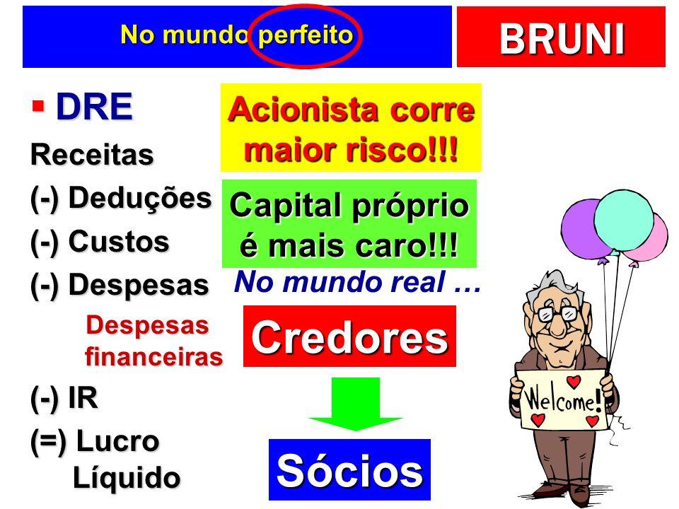 Capital próprio é mais caro!!!