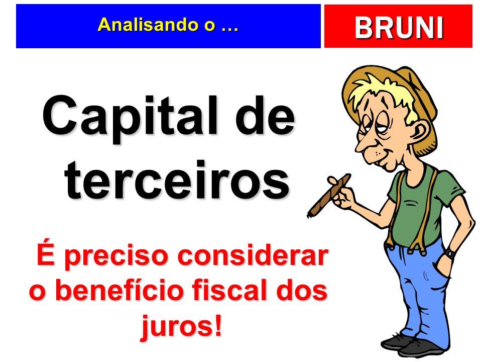 É preciso considerar o benefício fiscal dos juros!