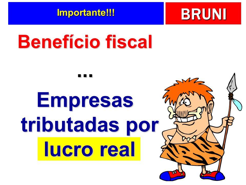 Empresas tributadas por lucro real