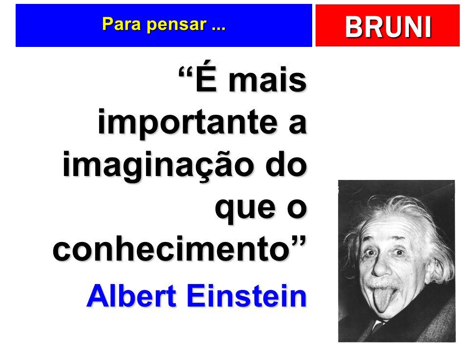 É mais importante a imaginação do que o conhecimento