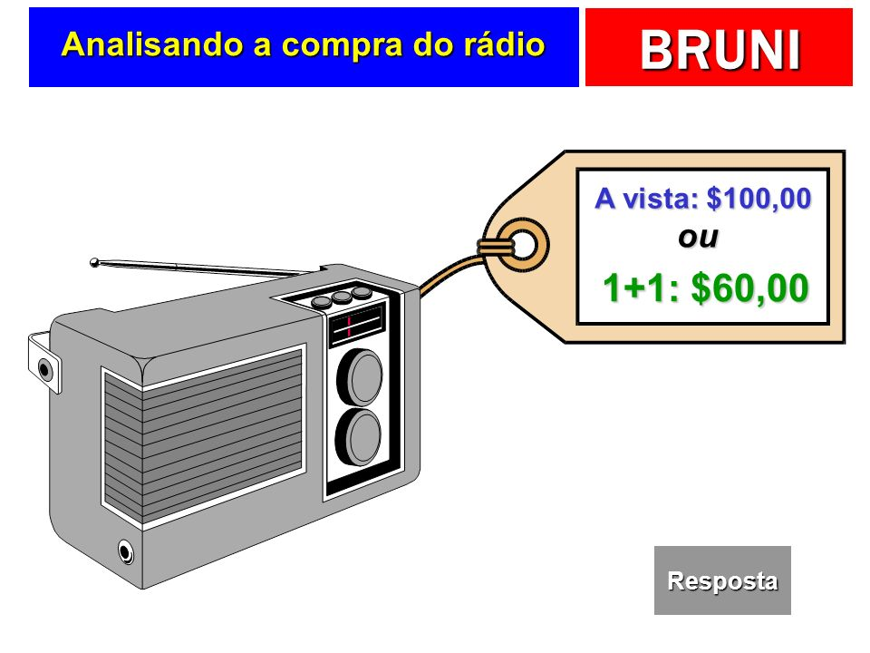 Analisando a compra do rádio