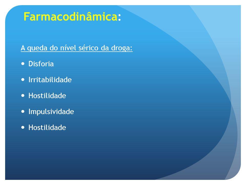 Farmacodinâmica: A queda do nível sérico da droga: Disforia