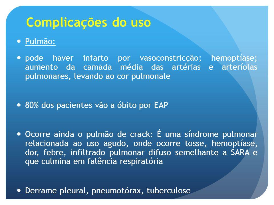 Complicações do uso Pulmão: