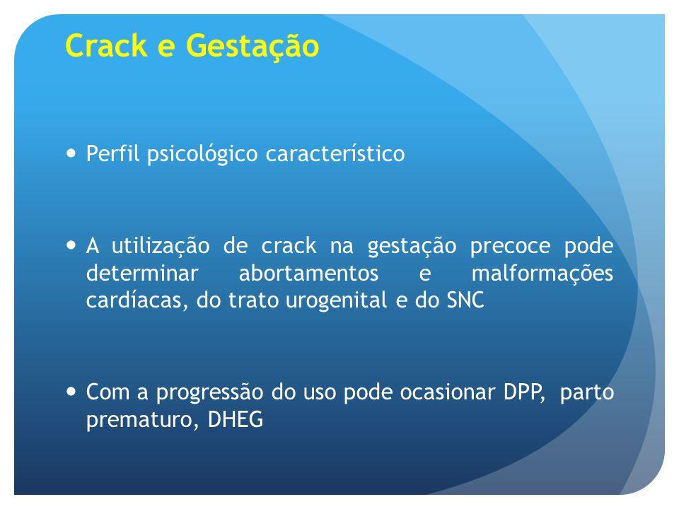 Crack e Gestação Perfil psicológico característico
