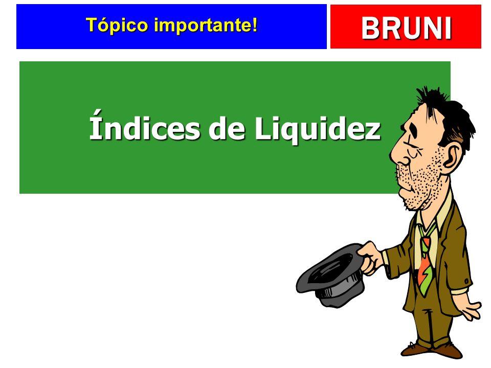 Tópico importante! Índices de Liquidez